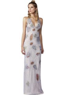 6802aa213 Kanui Vestido Colcci Curto Pedraria Branco. Ir para a loja; -68% Vestido  Izad Em Tule Bordado Em Patches E Pedrarias Azul