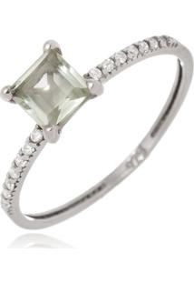 Anel Le Diamond Pedra Cristal Com Zircã´Nia - Prata - Feminino - Dafiti