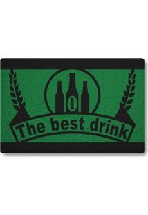 Tapete Capacho The Best Drink - Verde Bandeira