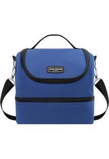 Bolsa Térmica Tamanho G- Azul Escuro & Preta- 21X23Xjacki Design