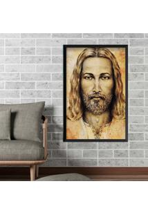 Quadro Love Decor Com Moldura Jesus Preto Grande