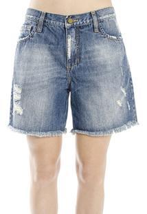 Bermuda Jeans Escritos Cantão - Feminino