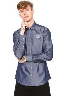 Camisa Jeans Von Dutch Poa Azul