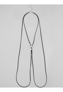 Colar Body Chain Com Argola