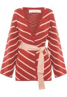 Casaco Feminino Tricot - Vermelho