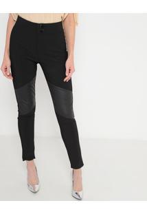 Calça Skinny Com Recortes Resinados - Pretamorena Rosa
