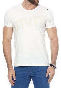 Camiseta Oitavo Ato Otvto Natural Masculina - Masculino-Branco