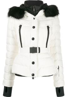 Moncler Grenoble Hooded Padded Jacket - Branco