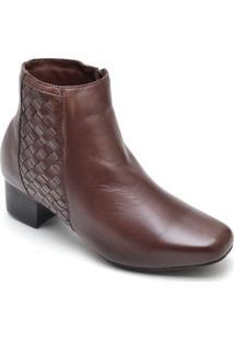 Bota Dr Shoes Casual Feminino - Feminino-Café