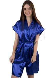 Robe De Cetim 017 Azul