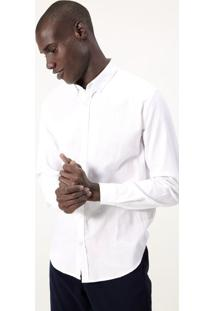 Camisa Comfort Manga Longa Em Oxford