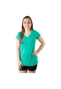 Camiseta Lisa Verde Água