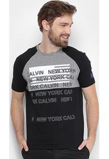 Camiseta Calvin Klein Recorte Ny Masculina - Masculino