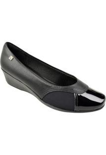 Sapato Piccadilly Feminino - Feminino-Preto