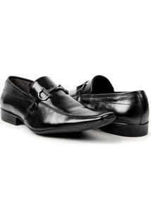 Sapato Social Couro Bigioni Fivela Masculino - Masculino-Preto