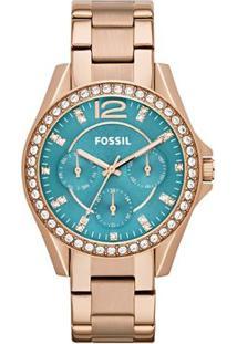 Relógio Fossil Feminino Analógico - Feminino-Rose Gold