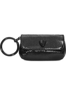 Bolsa Mini Envelope Tigre Animale - Preto