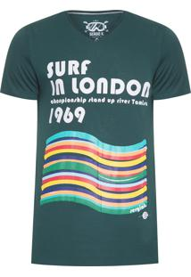Camiseta Masculina Surf In London - Verde