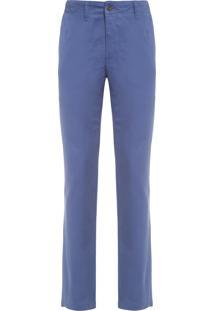 Calça Masculina Chino Light Slim Fit - Azul