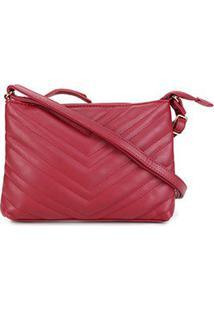Bolsa Pagani Mini Bag Transversal Matelassê Feminina - Feminino-Vermelho