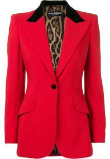 Dolce & Gabbana Blazer Com Lapelas - Vermelho