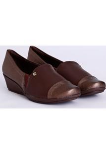 Sapato Salto Anabela Piccadilly Feminino Marrom