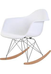 Cadeira Eames Eiffel Com Braco Polipropileno Cor Branco Base Balanco - 44925 Sun House
