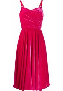 Dolce & Gabbana Vestido Envelope De Veludo - Rosa