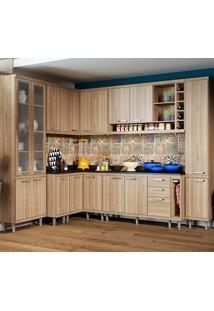 Cozinha Compacta Com Tampo 11 Peças 5805-S3T Sicília - Multimóveis - Argila Acetinado