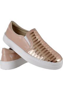 Kit Tênis Slip On E Chinelo Slide Feminino Emanuelly Shoes Rosa