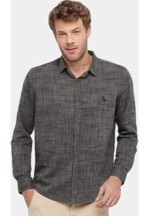 Camisa Reserva Regular Masculina - Masculino-Marrom
