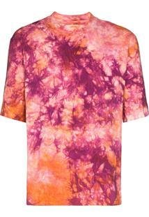 Nicholas Daley Camiseta Tie-Dye De Algodão - Vermelho