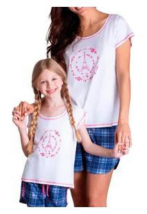 Pijama Adulto Curto Xadrez Paris Lupo (24278-001) 100% Algodão