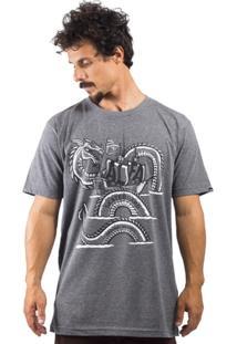 Camiseta Alfa Snake Navy - Masculino