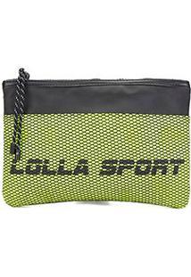 Bolsa Clutch Santa Lolla Nylon Lolla Sport - Feminino-Amarelo