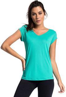Blusa Lisa Com Recorte Vazado- Verde ÁGua- Vestemvestem
