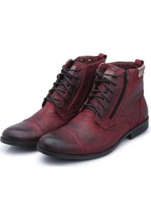 Bota Bergally Casual Detroid Bordo