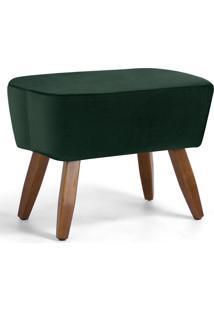 Puff Decorativo Pã©S De Madeira Fixo Juliet D02 Algodã£O Verde B-303 - Lyam Decor - Verde - Dafiti