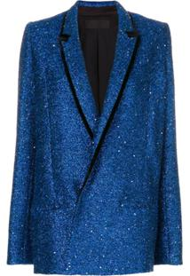 Haider Ackermann Blazer Com Brilho - Azul