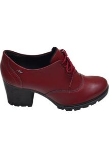Sapato Feminino Tratorado Dakota Vermelho Merlot