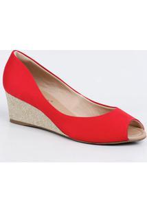 c94e3f293 Peep Toe Bebece Vermelho feminino   Shoelover