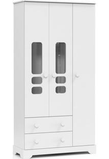 Guarda-Roupa Infantil Smart 3 Pt Branco Soft