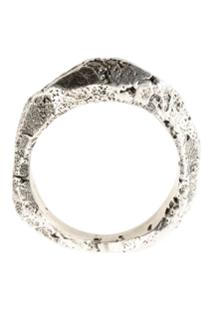 Tobias Wistisen Anel Com Efeito Rústico - Stone Rock Ring Arg: 8Grs