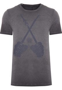 Camiseta Masculina Lets Roll - Cinza