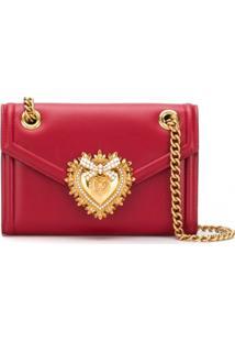 Dolce & Gabbana Bolsa Tiracolo Devotion Mini De Couro - Vermelho