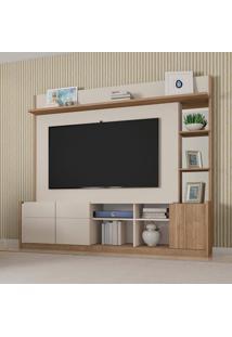 Estante Para Home Theater E Tv Até 65 Polegadas Vértice Off White E Buriti