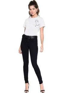 Camiseta M.Officer Basic Silk Feminina - Feminino-Branco