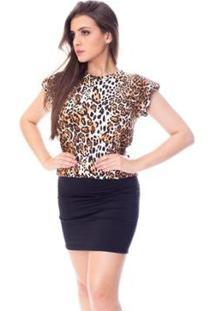 Blusa Moda Vício Muscle Tee Feminina - Feminino-Onça
