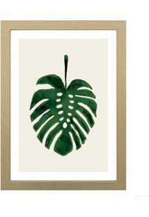 Quadro Decorativo Green Leaf 28X38Cm Zebrano Infinity