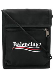 Balenciaga Bolsa Tiracolo Com Logo - Preto